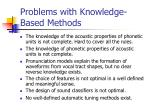 problems with knowledge based methods