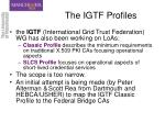 the igtf profiles