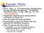 example mickey