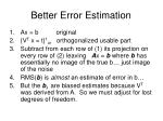 better error estimation