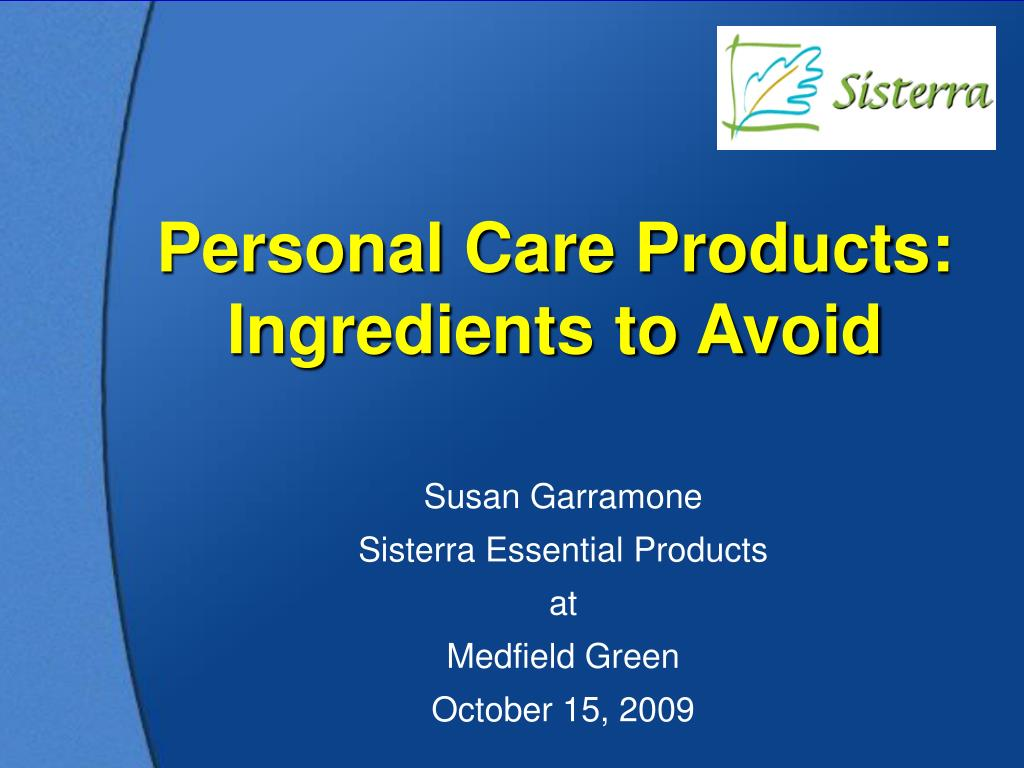 personal care products ingredients to avoid l.