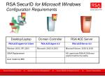 rsa securid for microsoft windows configuration requirements
