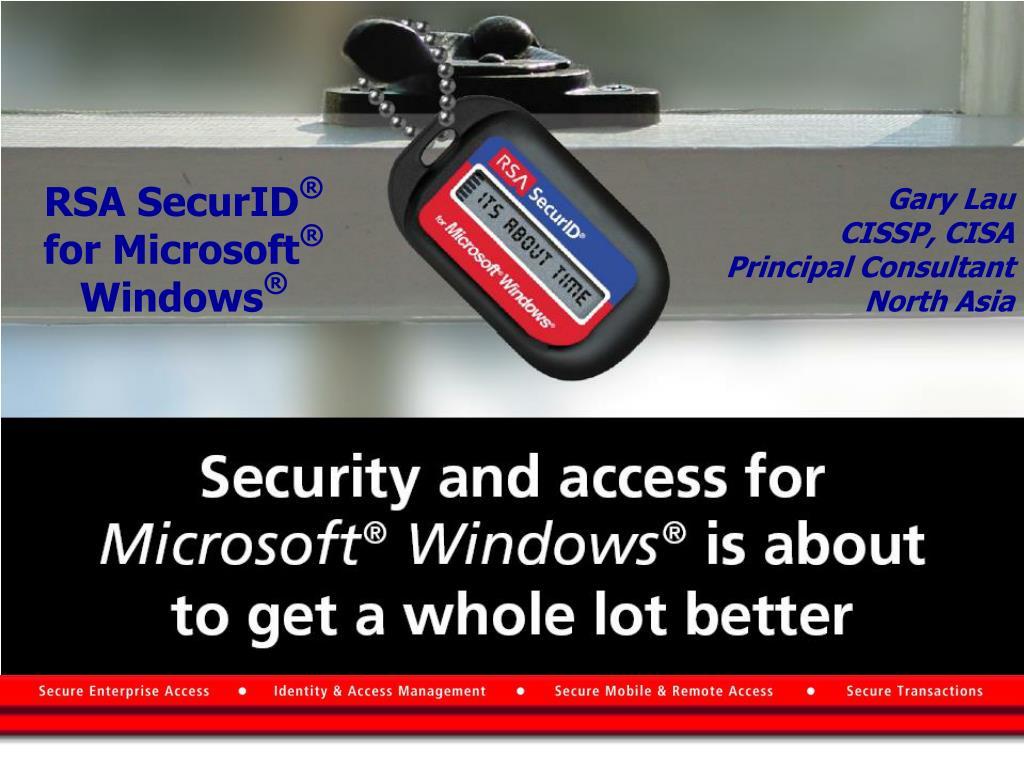 rsa securid for microsoft windows l.