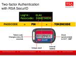 two factor authentication with rsa securid