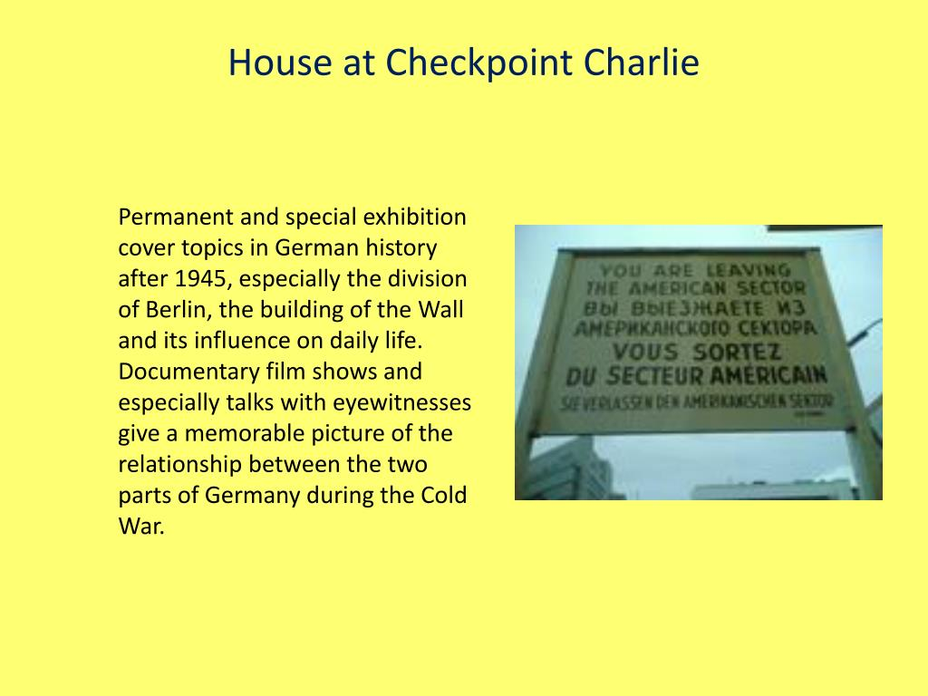 House at Checkpoint Charlie