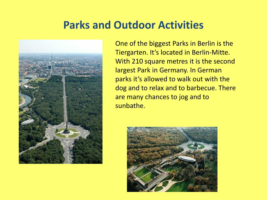 Parks and Outdoor Activities