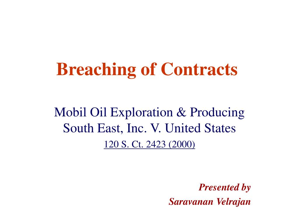 breaching of contracts l.