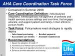 aha care coordination task force