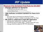 irf update37