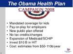 the obama health plan