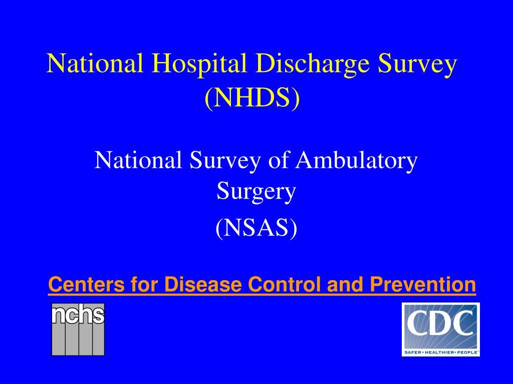 national hospital discharge survey nhds l.
