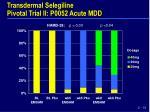 transdermal selegiline pivotal trial ii p0052 acute mdd