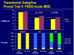 transdermal selegiline pivotal trial ii p0052 acute mdd7