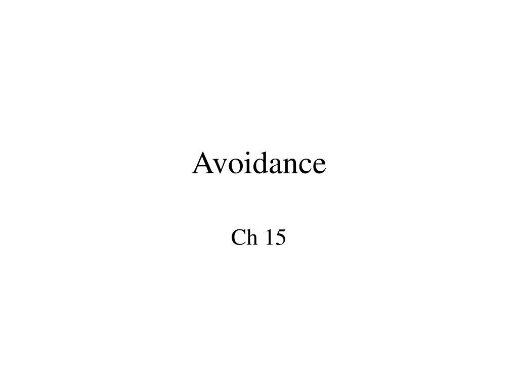 avoidance l.
