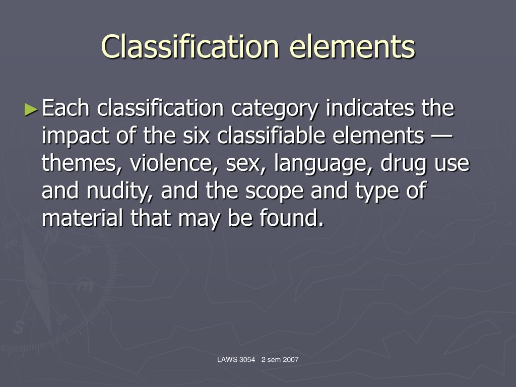 Classification elements