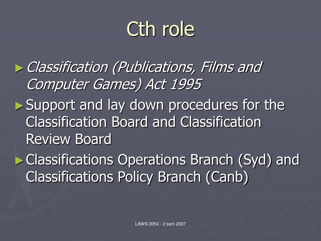 Cth role