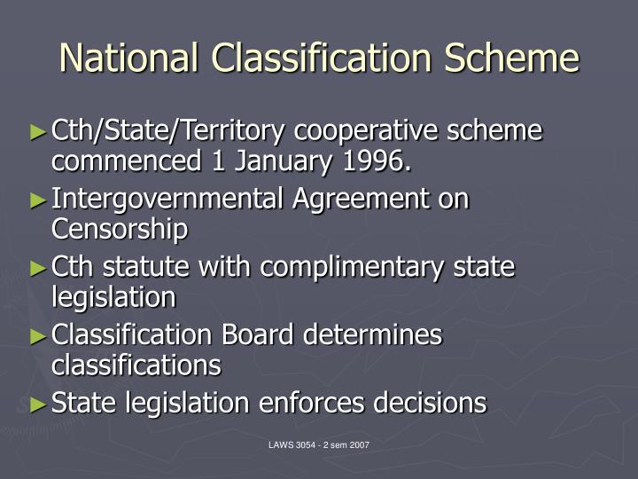 National classification scheme