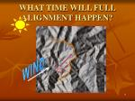 what time will full alignment happen