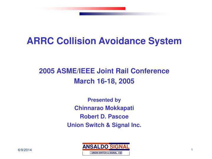 arrc collision avoidance system