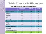 details french scientific corpus