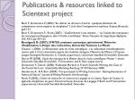 publications resources linked to scientext project