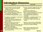 individualism dimension