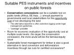 suitable pes instruments and incentives on public forests