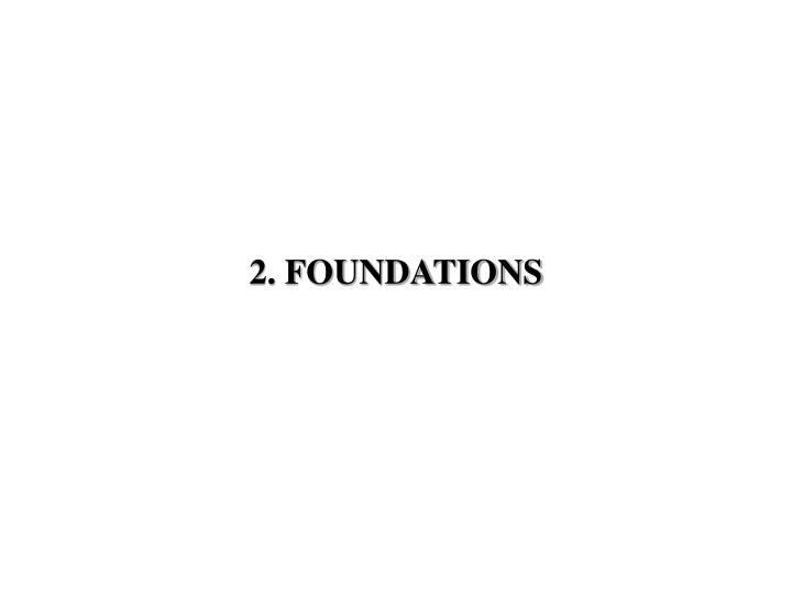 2 foundations n.