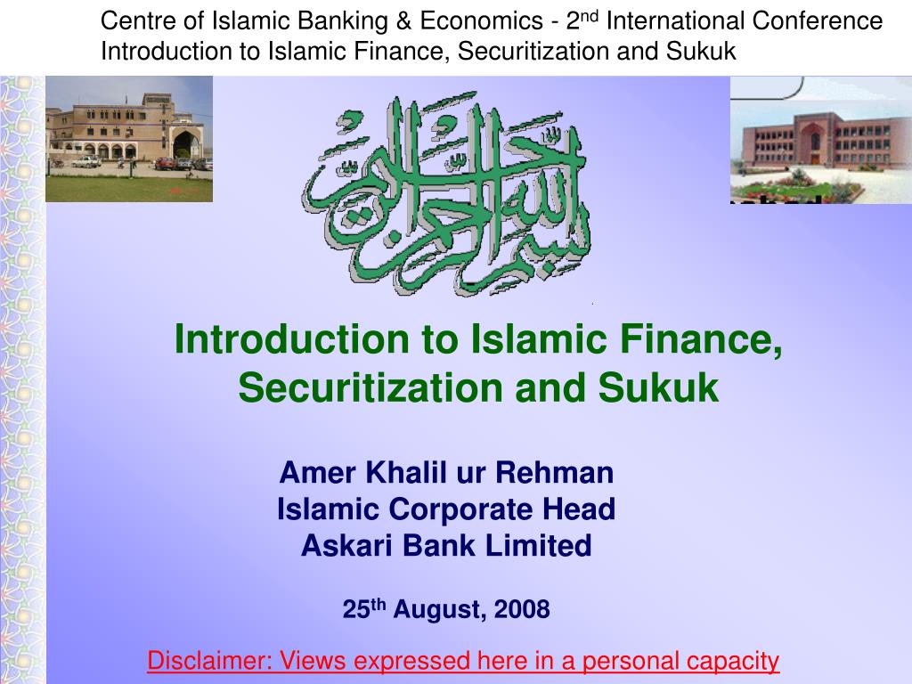 introduction to islamic finance securitization and sukuk l.