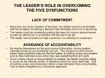 the leader s role in overcoming the five dysfunctions