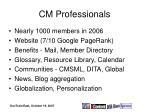 cm professionals