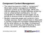 component content management