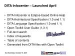 dita infocenter launched april