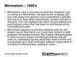 minimalism 1990 s