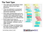 the task type