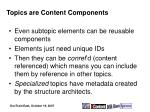 topics are content components