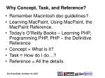 why concept task and reference