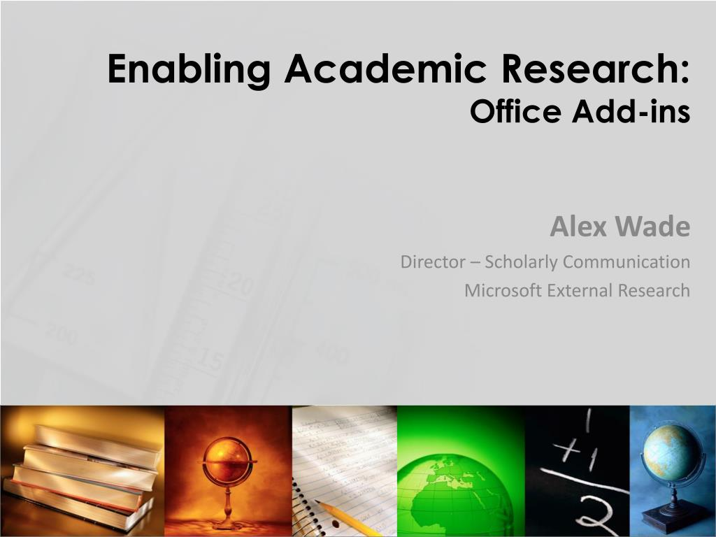 enabling academic research office add ins l.
