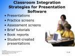 classroom integration strategies for presentation software