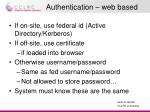authentication web based