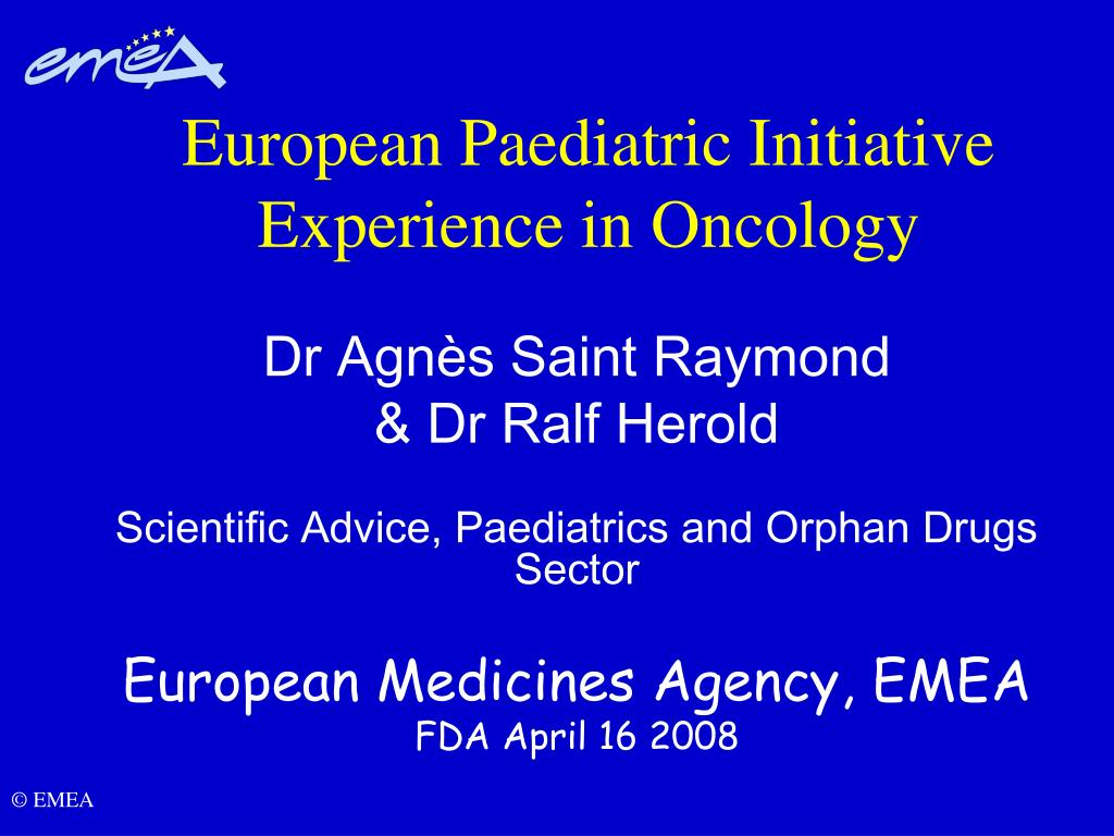 european paediatric initiative experience in oncology l.
