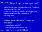 new drugs before approval