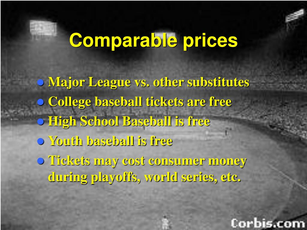 Comparable prices