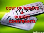 cost of tickets budget constraints