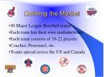 defining the market