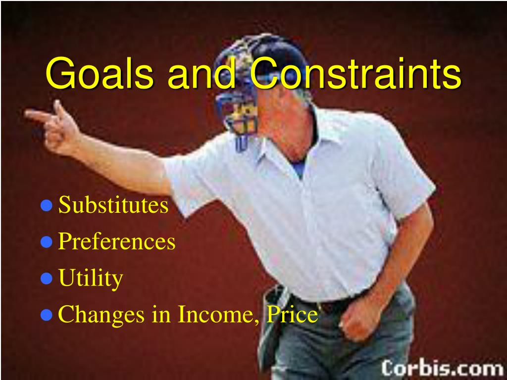 Goals and Constraints