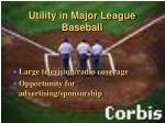 utility in major league baseball