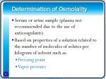 determination of osmolality
