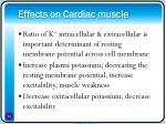 effects on cardiac muscle