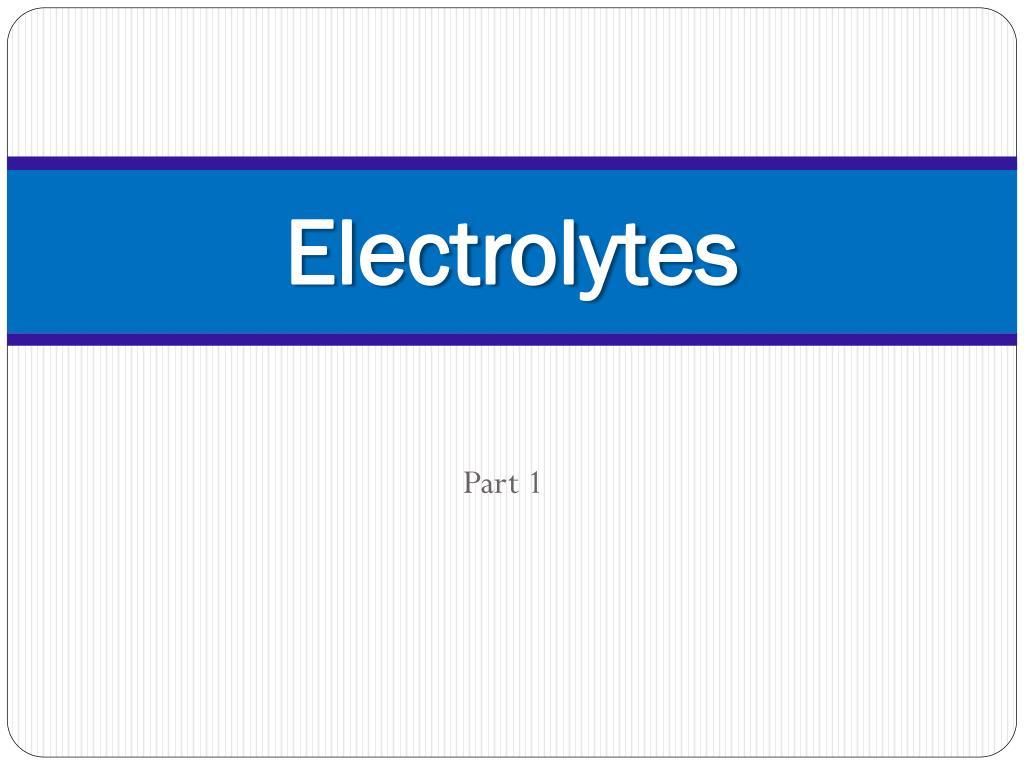 electrolytes l.